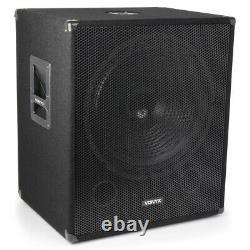 B-Stock Vonyx 18 Powered Active Subwoofer Bass Boost Bin DJ Disco PA Sub
