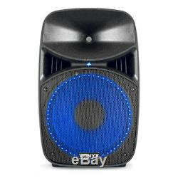 B-Stock Vonyx VPS122A 12 Active Bluetooth Disco Speakers DJ PA System 800W with