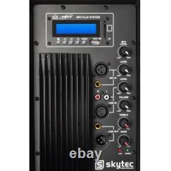 Bluetooth Active 15 Pa Speaker 800w Karaoke Party Usb Sd Dj Disco Loudspeaker