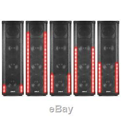 Bluetooth Disco Home Party Speaker with LED Metering Mood Light Wave 600W