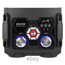 Bluetooth Karaoke Party Speakers with Disco Lights MP3 Media Music Player 12