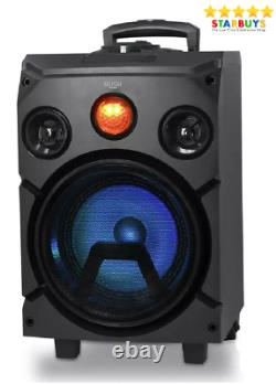 Bush Portable PA System Bluetooth Party Speaker With Disco Lights & 2 x Mic Inputs