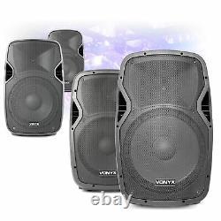 CHOICE Vonyx AP Active Powered Mobile DJ Disco Speaker 8 10 12 15 200W-800W