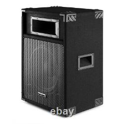 CSB 12 Active DJ Speakers with Stands Loud 600w Karaoke PA Disco House Party
