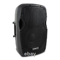 Complete PA System Active Speakers and Partybar UV Strobe Moon Disco Stage Light