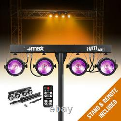 Complete PA System Active Speakers with Partybar COB Par Disco Stage Lights