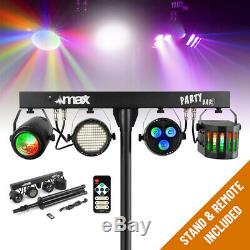 Complete PA System Active Speakers with Partybar Derby Strobe Disco Stage Lights