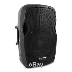Complete PA System Active Speakers with Partybar PAR Moon Disco Stage Lights