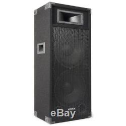 Double 15 Active Powered PA DJ Speaker Disco Sound System Fenton CSB215 1600W