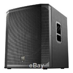 EV ELX200-18SP 18 Powered Subwoofer Bass Bin Speaker 1200W DJ Disco