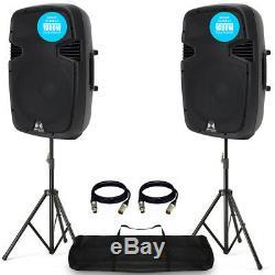 Ekho RS15A V3 15 1600W Active DJ Disco PA Club Stage Speaker (Pair) + PRO Kit