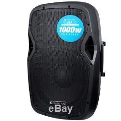 Evolution Audio RZ12A V3 12 1000W Active DJ Disco PA Club Stage Speaker (Pair)