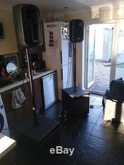 FBT j8a active tops with fbt Subline 112SA active subs Beringer pa disco speaker