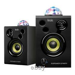 Hercules Monitor32 Speaker System DJ Monitor inc LED Light Effect Party DiscoB