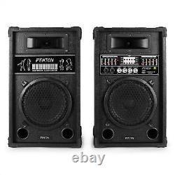 Hi-fi Active Pa Speakers Usb Sd Mp3 8 Bass Driver Dj Disco Karaoke Party System