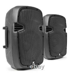 High Powered Active Powered PA Speakers 800W 10 Woofer DiscoSPJ1000AD UK Stock