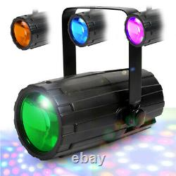 Home Karaoke Disco Party Package Speakers with Microphones, Mixer and LED Lights