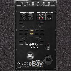 Ibiza Sound Active Speaker Column PA System 400W 10 DJ Disco Sound System