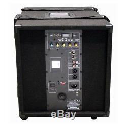 Ibiza Sound CUBE1208 Active PA System 1400W DJ Disco Sound System 2.1