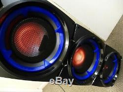 Ibiza Sound Standup308 400w Active Portable Bluetooth Speaker & disco lights NEW