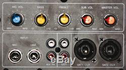 Ibiza Sub15a Aktiv 15 Subwoofer 800 Watt Verstärker Bass Box Party Dj Disco