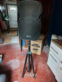 KAM RZ12A V3 Active 1000W Speaker DJ Disco Sound System PA Bundle Black