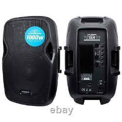 Kam RZ12A 12 1000W Active PA Speaker Portable DJ Disco Weddings Karaoke