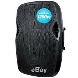 Kam RZ15A V3 1200w 2-Way Active Powered Stage PA DJ Disco 15 Speaker + Warranty