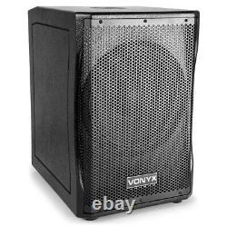 Loud PA Speaker & Subwoofer Sound System for Mobile DJ Disco Party Easy Setup