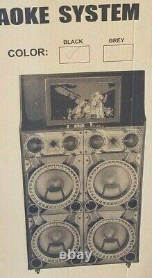MPD12204TS 15000 Watts 412'' Speakers with Disco Lights 12'' LCD DJ Professional