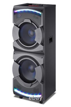 MPD23L 15000 Watts 212'' Speakers with Disco LED Loud Lights LCD DJ Professional