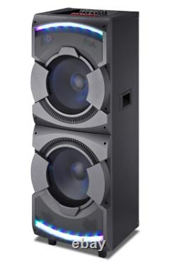 MPD23L 15000 Watts 212'' Speakers with Disco LED Loud Lights LCD DJ Professional