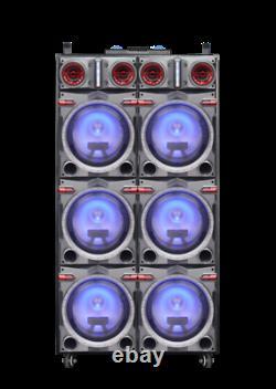 MPD6203 20,500 Watts 6 10'' Speakers with Disco Lights Karaoke DJ Professional