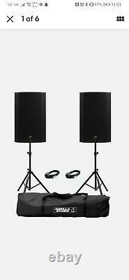 Mackie Thump 15A V4 Active 15 DJ Disco Musician PA Speakers inc Stands & Cables