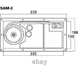 Monacor Sam-2 Active Subwoofer Module Power Amplifier 250w Speaker Pa Disco Dj