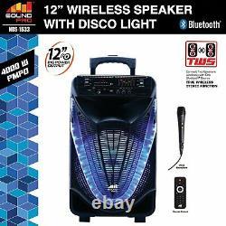 Naxa NDS-1233 Portable 12 Bluetooth Party Speaker withDisco Light