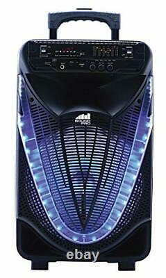 Naxa Nds-1233 Portable 12-inch Bluetooth Party Speaker With Disco Light