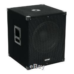 Omnitronic MagiCarpet-151A 15 Active Subwoofer Bass Bin Speaker 1000W DJ Disco