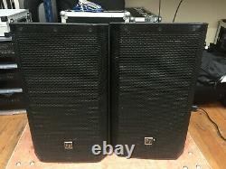 PAIR Electrovoice ZLX12P 12 Powered Speaker With COVERS DJ Disco PA Sound System