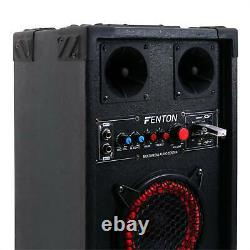 PAIR Fenton ACTIVE PASSIVE PA SPEAKERS DUAL BASS 6.5 LOUDSPEAKERS MOBILE DISCO