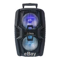 PLS PARTY-210LED Portable Sound System Bluetooth 600W DJ Disco Party 2x 10