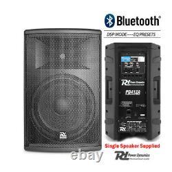 Pair Active DJ Speakers PA Pro Bi-Amplified Disco System Bluetooth 12 2800W