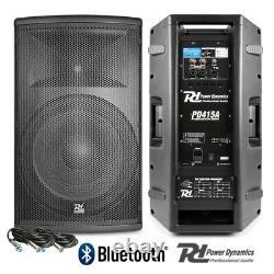 Pair Active DJ Speakers PA Pro Bi-Amplified Disco System Bluetooth 15 2800W