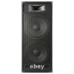 Pair Dual 15 Active Powered DJ Speakers Disco Party System Skytec CSB215 3200W