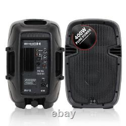 Pair Mobile DJ Disco PA Speakers 10 Woofer Lightweight Portable Performer 800W