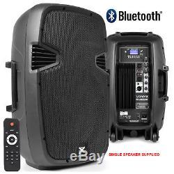 Pair Vonyx Active Powered DJ Disco PA Speakers Wireless Bluetooth 12 1200W