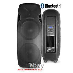 Pair Vonyx Active Powered Dual 15 Bluetooth DJ Disco PA Speakers Cables 1400W