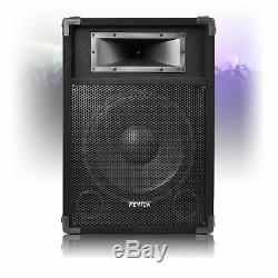 Pair of 12 Active Powered DJ Speakers Party Disco Sound 1200W
