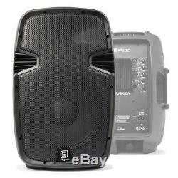 Pair of 12 Active Powered Speakers Mobile DJ Disco Party PA with Cable 1200W