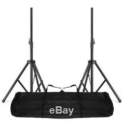 Pair of Active Powered 10 Mobile DJ PA Disco Speakers with Stands & Cables 800W